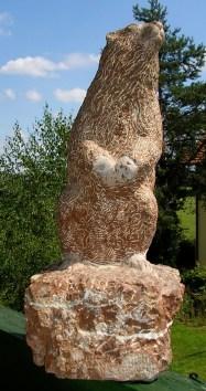 Murmeltier, rötlicher Kalkstein