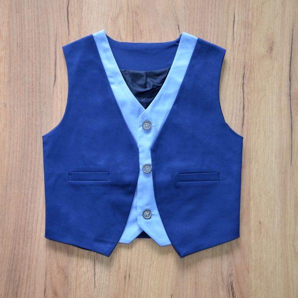 Γιλέκο Παιδικό με Διχρωμία Μπλε – Γαλάζιο