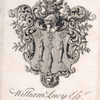 'Why is there a pike on the Lucy coat of arms?'