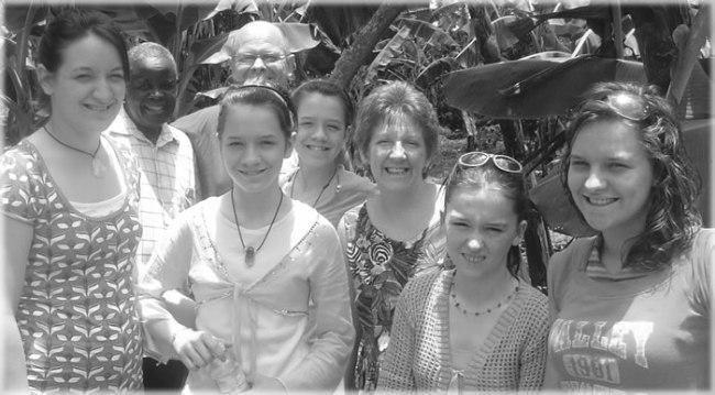 Charlene and Family in Uganda 2008