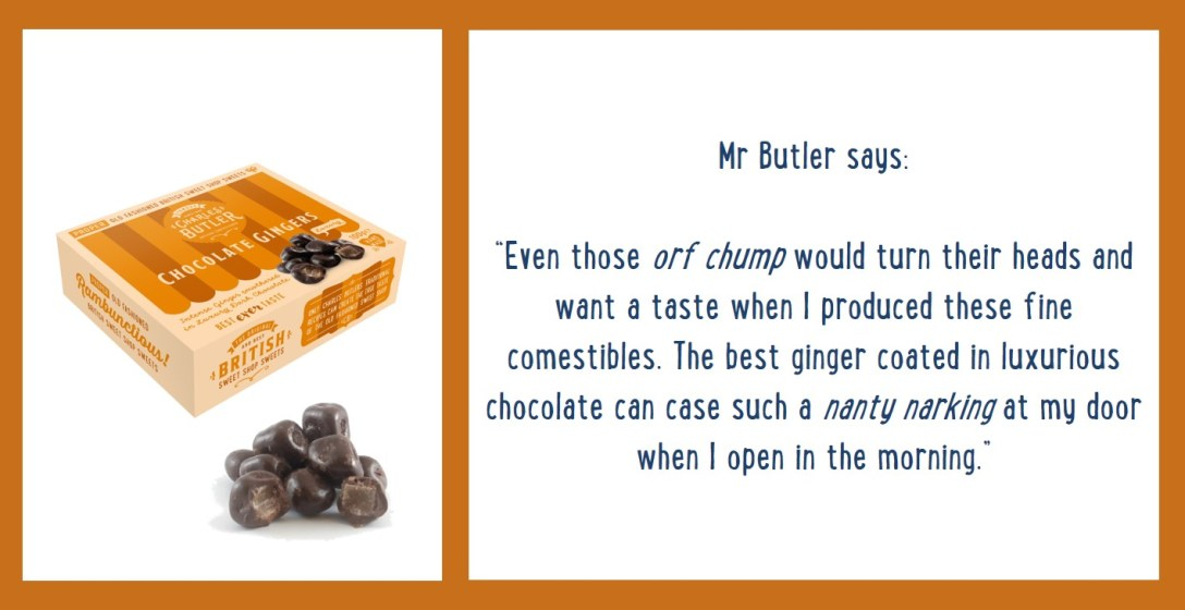 Charles Butler Chocolate Gingers Information