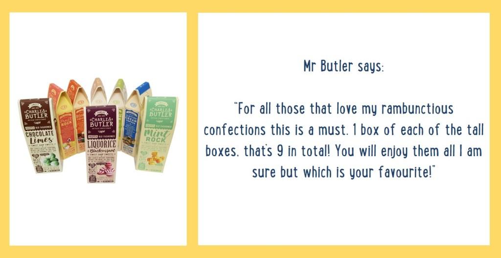 Charles Butler's Gift Box Information