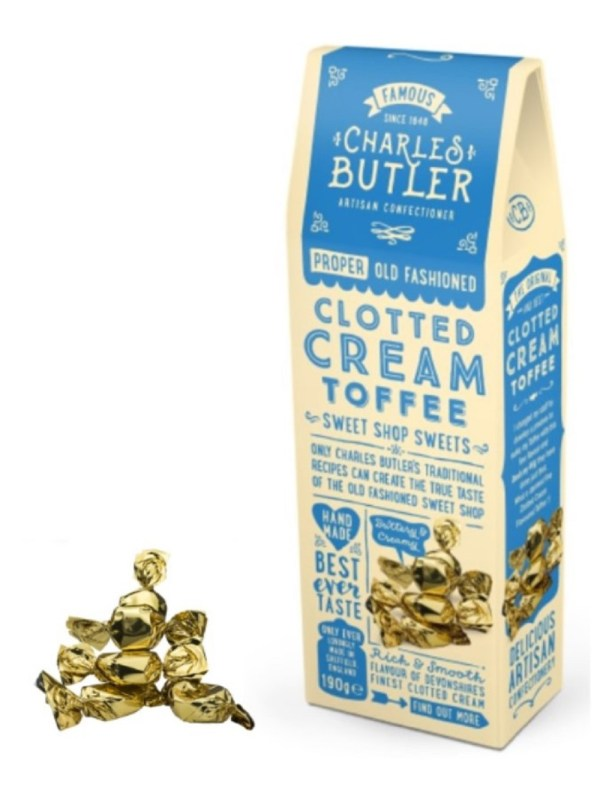 Charles Butler Clotted Cream toffee box and Toffees