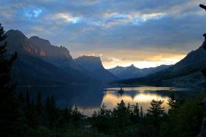 Sunset in Glacier National Park, Montana.
