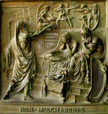 Nathan, David and Bathsheba. By Baron Henri de Triqueti.