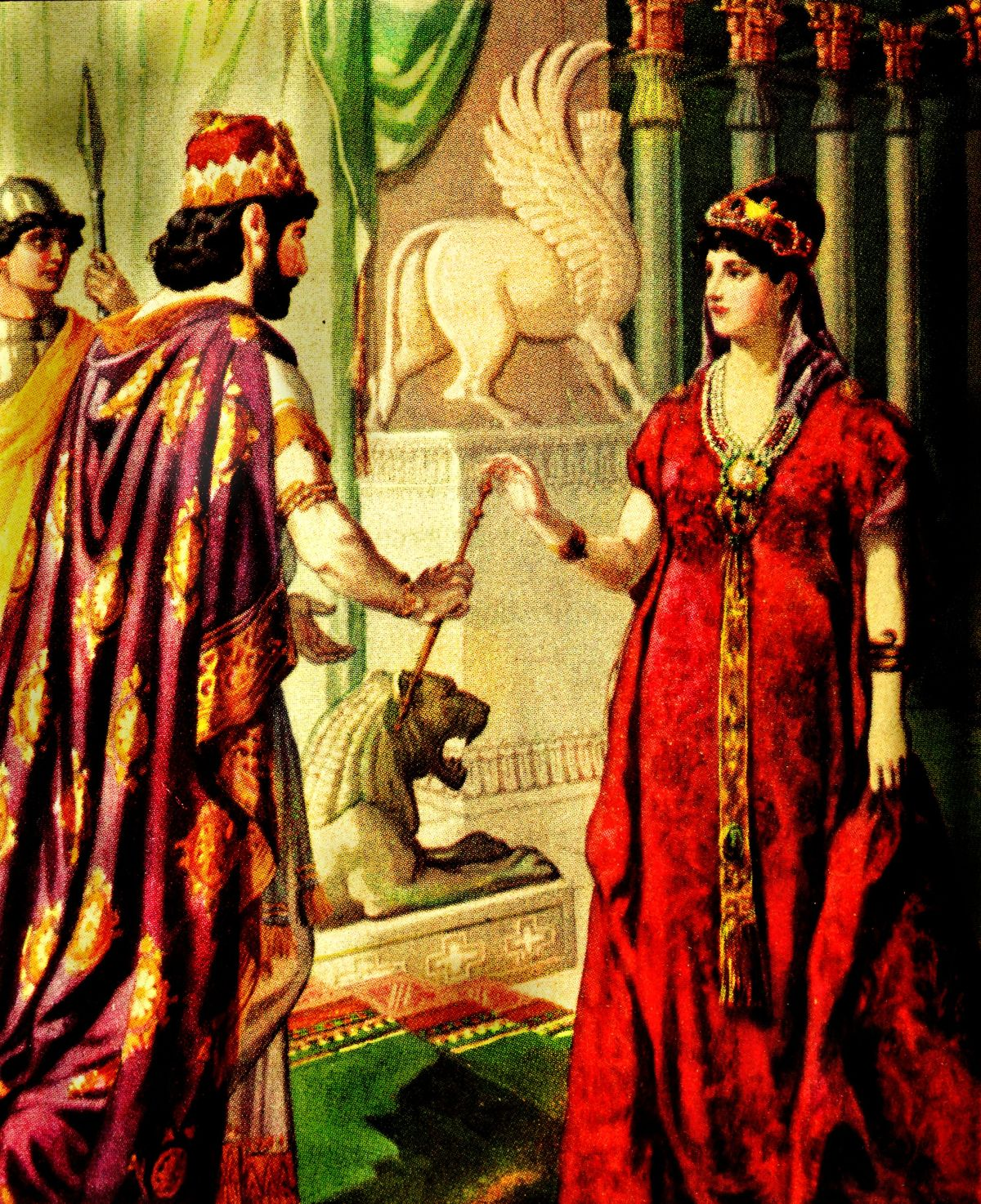 Xerxes offers clemency to Esther.