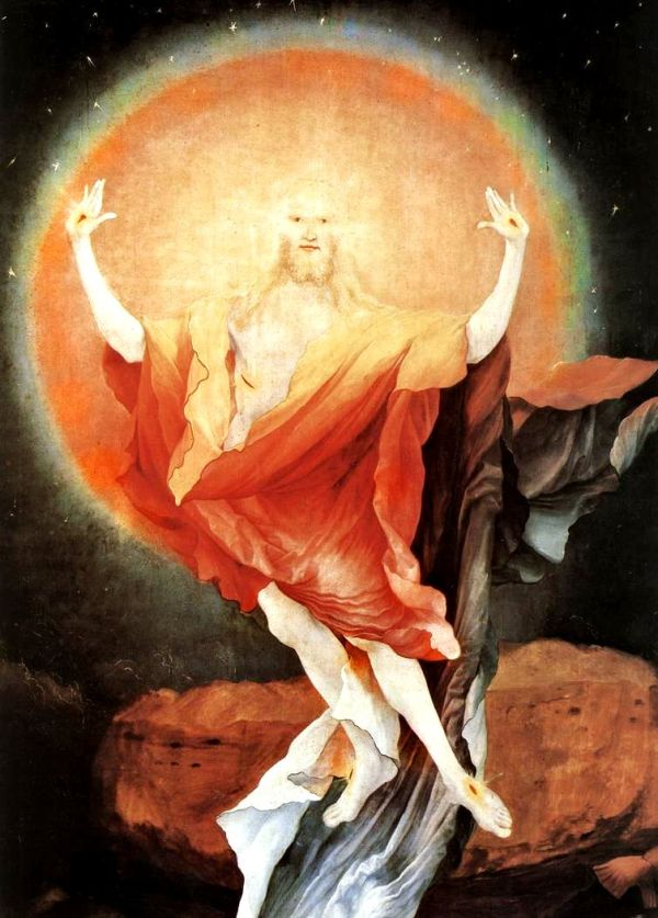 Detail: The Resurrection, circa 1515. By Matthias Grünewald.