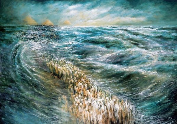 Splitting of the Red Sea. By Lidia Kozenitzky