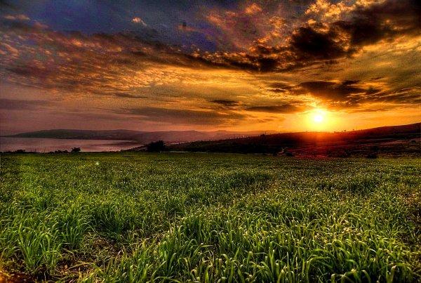 Sunset on the way to Tiberias.