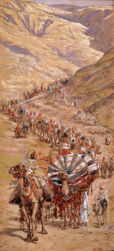 The Caravan of Abram_Tissot