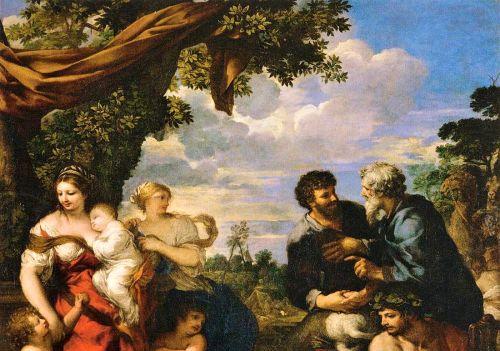 Detail: The Alliance of Jacob and Laban (circa. 1630-1635). By Pietro da Cortona.