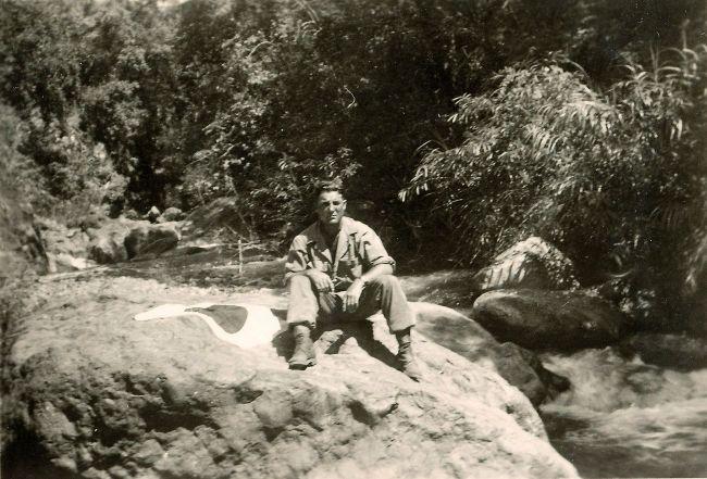 EDWARD SIELER, JR., SILVER STAR RECIPIENT IN LUZON, PHILIPPINES.