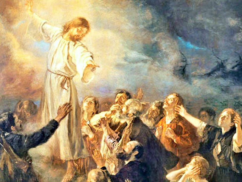 DETAIL: The Ascension of Jesus the Christ (1897). By Fritz von Uhde (1848 – 1911).