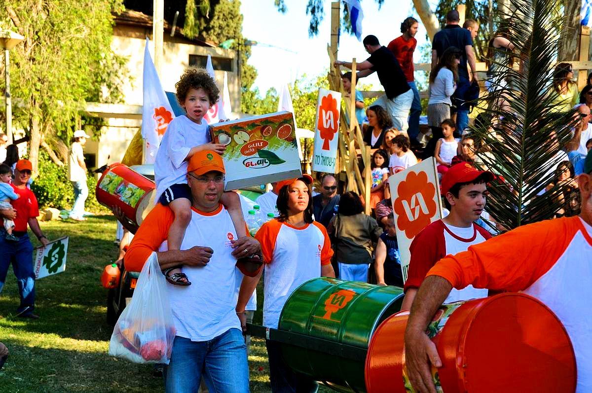 Shavuot Parade at Kibbutz Gan-Shmuel. Photographer