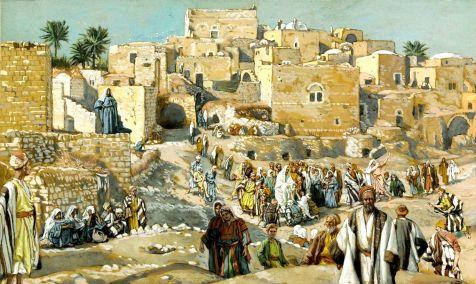 Il allait par les villages en route pour Jérusalem_Tissot