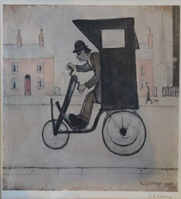 Lot 506: Limited Edition L. S. Lowry pencil signed print, 'The Contraption'