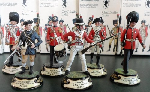 Part of a large collection of Charles Stadden hand-painted model soldiers. Various estimates.