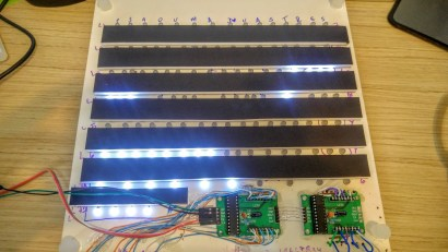 LEDs com o foam board