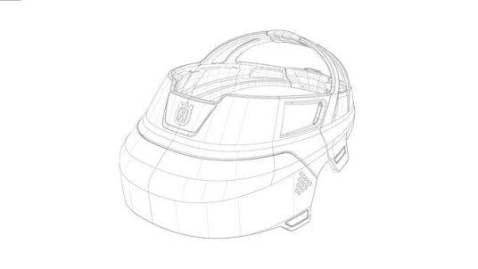 Design concept Husqvarna Ramus - sketch of visor