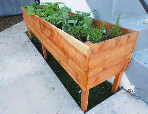 raised planter box