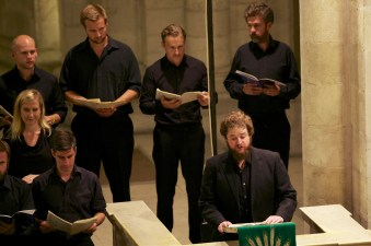 Tenor Allan Clayton with Basses Tim Scott, George Humphreys, Sam West and Alex Ashworth