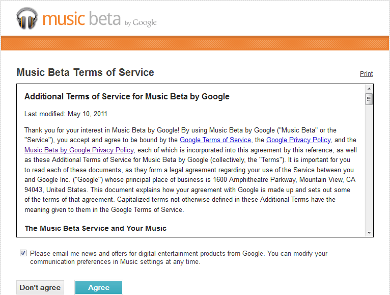 Music Beta écran 2