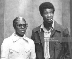 Black Panther party member-Afeni Shakur and another member