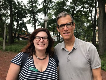 Karen Mauney-Brodek of Emerald Necklace Conservancy and State Senator Will Brownsberger