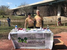 Erin Young and Randall Albright at the Charlesgate Alliance table