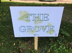 Sign for The Grove Area