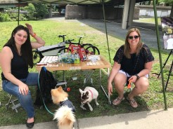 Rachel Bakish and Lisa Hazen with Dog Treats