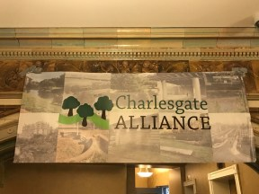 "Our Banner at ""There Is Something Brewing in Charlesgate"""