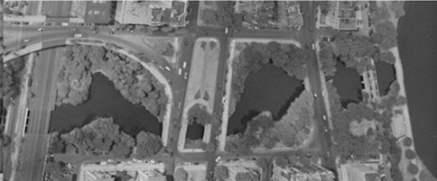 Aerial View of Charlesgate Park Circa 1920s