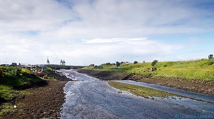 The River Afan in Port Talbot photographed from the Wales Coast path by Charles Hawes