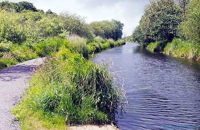 The Tennant Canal on the wales Coast Path, photographed by Charles Hawes. Walking in Wales.