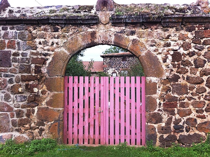 Old building in Saint Privat- D'Allier, France on the way of St James, Ferance. GR65. Route Saint Jacques. Photographed by Charles Hawes