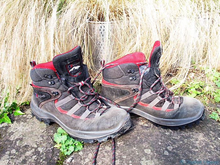 Berghaus Explorer Trail lite walking boots, photographed by Charles Hawes