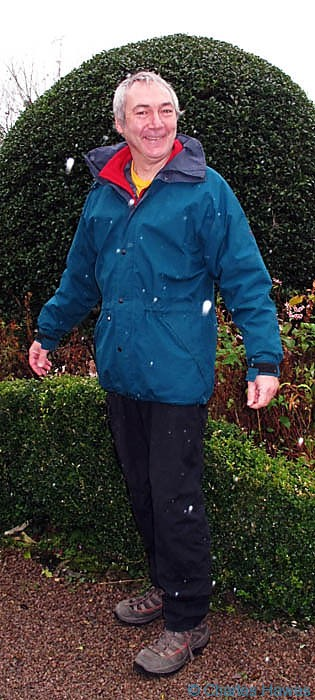 North Face Gore-Tex waterproof modelled by Charles Hawes