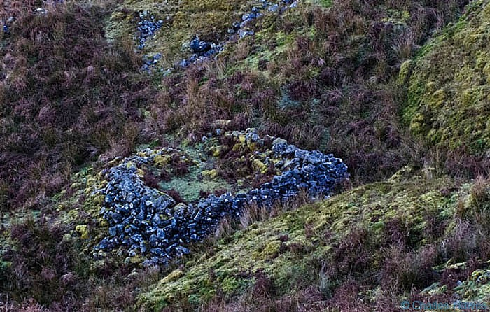 View of Sheepfold on Mynydd Llangatwg Powys, photographed by Charles Hawes