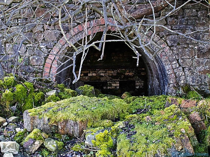 Lime kiln at Pinnacle Bay on Mynydd Llangatwg, Powys, photographed by Charles Hawes