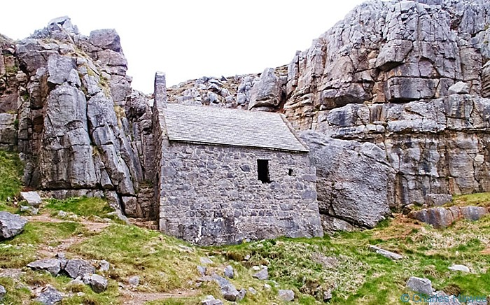 St Govan's Chapel on the Pembrokeshire Coast Path near Bosherston, photographed by Charles Hawes