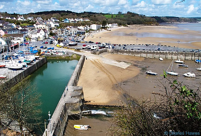 View over Saundersfoot from the Wales Coast Path, photograph by Charles Hawes