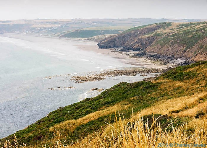 View of Newgale sands in Pembrokeshire photographed from The Wales Coast path by Charles Hawes