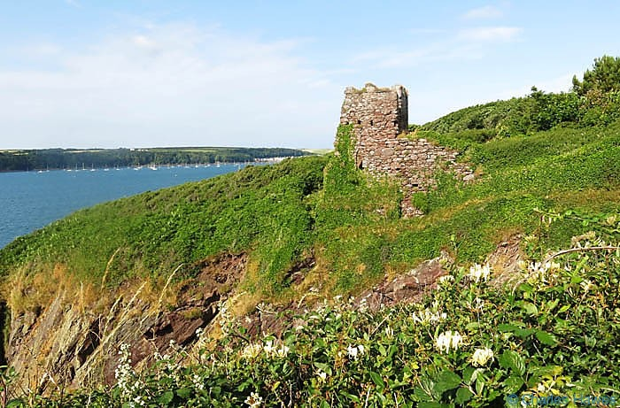 Watchtower at Monk Haven photographed from The Wales Coast Path by Charles Hawes