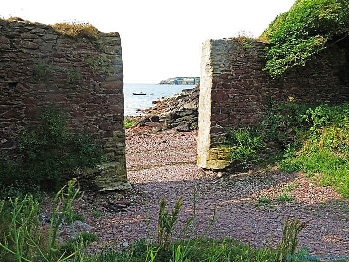Walls across Monk Haven, photographed from The Wales Coast path by Charles Hawes