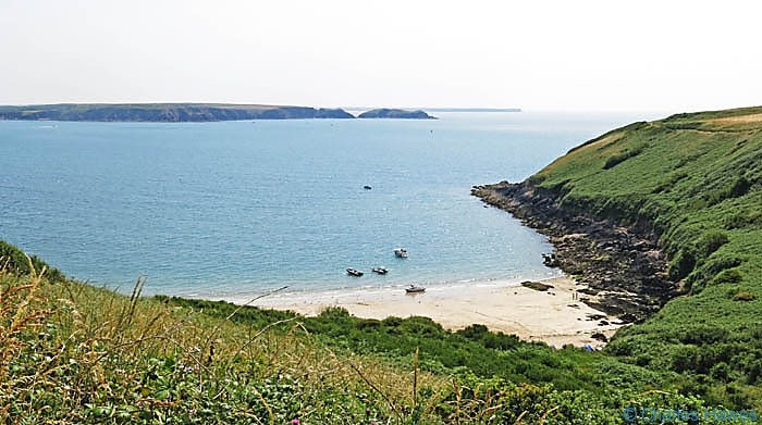 Watwick Bay, photographed from The Wales Coast path in Pembrokeshire by Charles Hawes