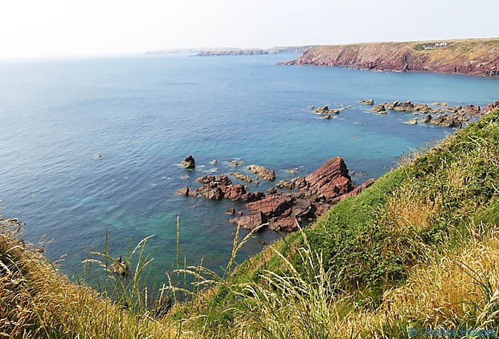Pembrokeshire Coast on The Dale Peninsular, photographed from The Wales Coast path by Charles Hawes