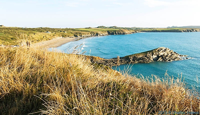 Trwynhwrddyn and Whitesands Bay behind, photographed from the Wales Coast Path by Charles Hawes