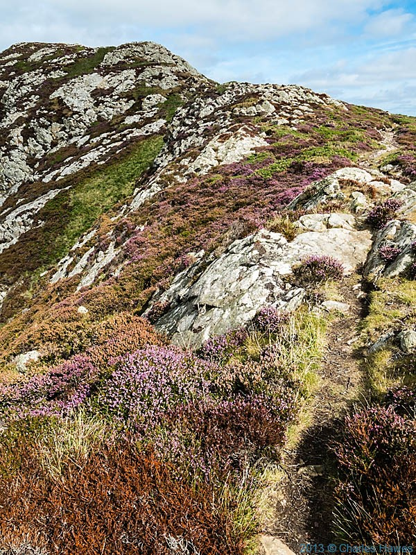 Wales Coast Path over Carn ogof, Pembrokeshire,photographed by Charles Hawes