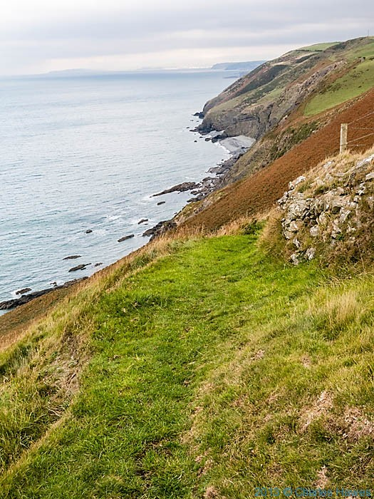 View to Aberystwyth from near Llanrhystud, photographed from The Wales Coast Path by Charles Hawes